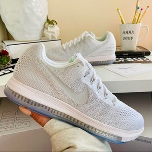 NWT Nike zoom all out pure platinum